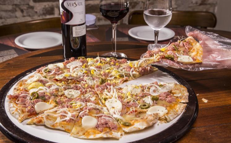 Pizza produzida com farinha italiana orgânica é novidade no Villa Foria